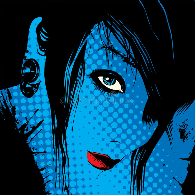 bakgrundsframsidakvinna stock illustrationer