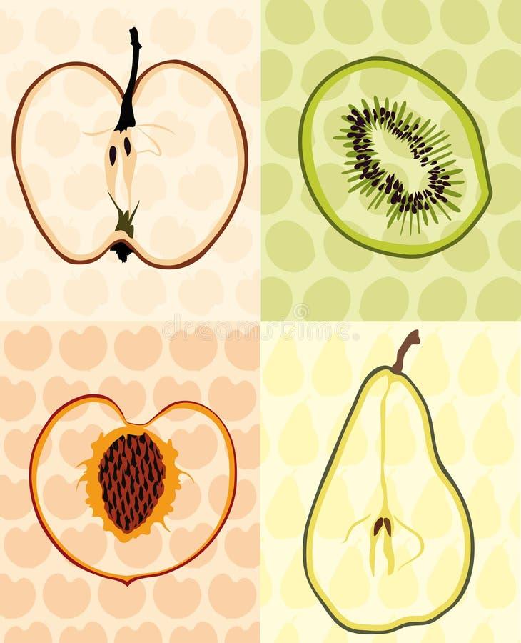 bakgrundsfrukter royaltyfri illustrationer