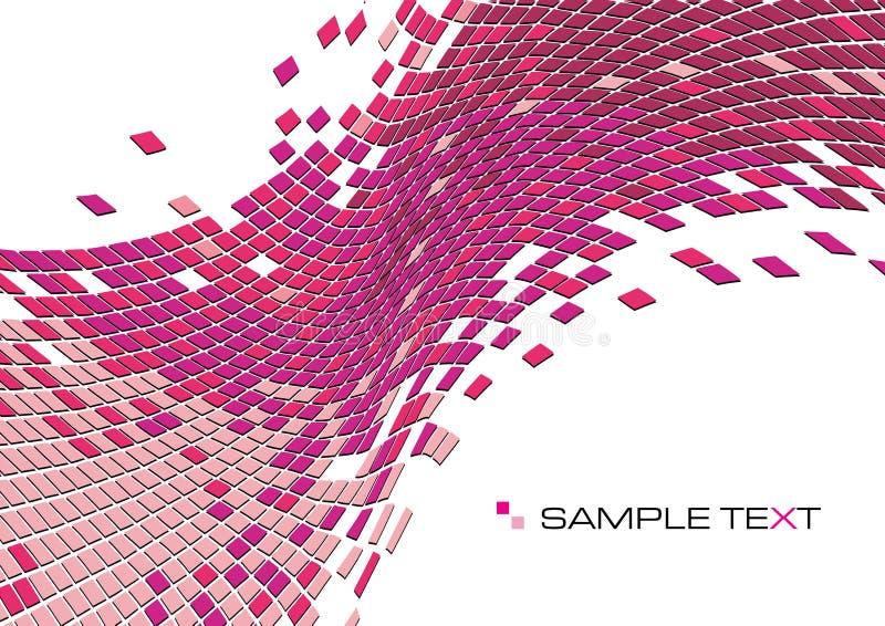 bakgrundsfyrkanter vektor illustrationer