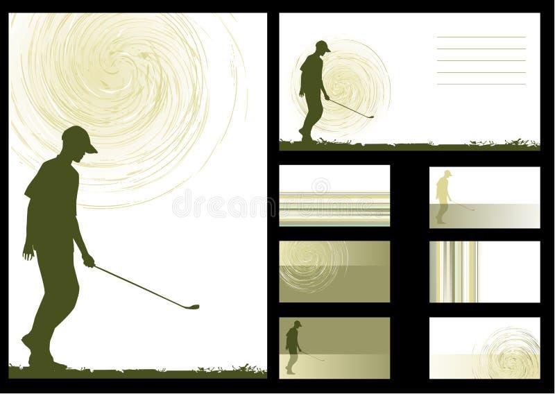 bakgrundsgolfvektor stock illustrationer