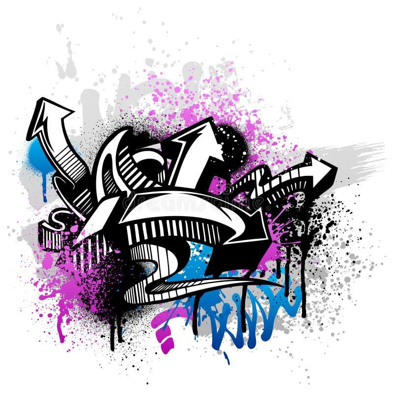 bakgrundsgrafitti stock illustrationer