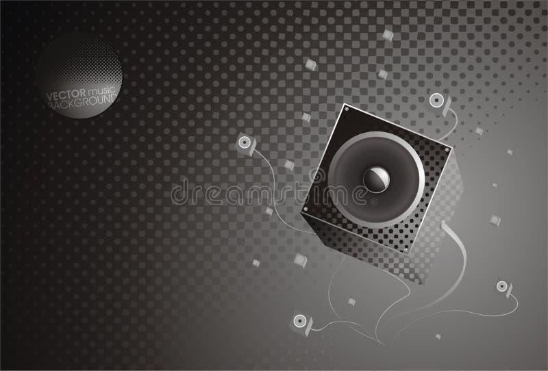 bakgrundsgraymusik stock illustrationer