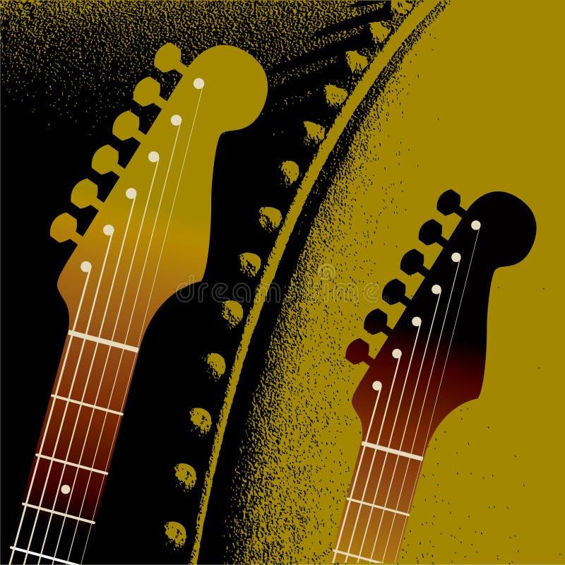 bakgrundsgrinighetgitarr vektor illustrationer