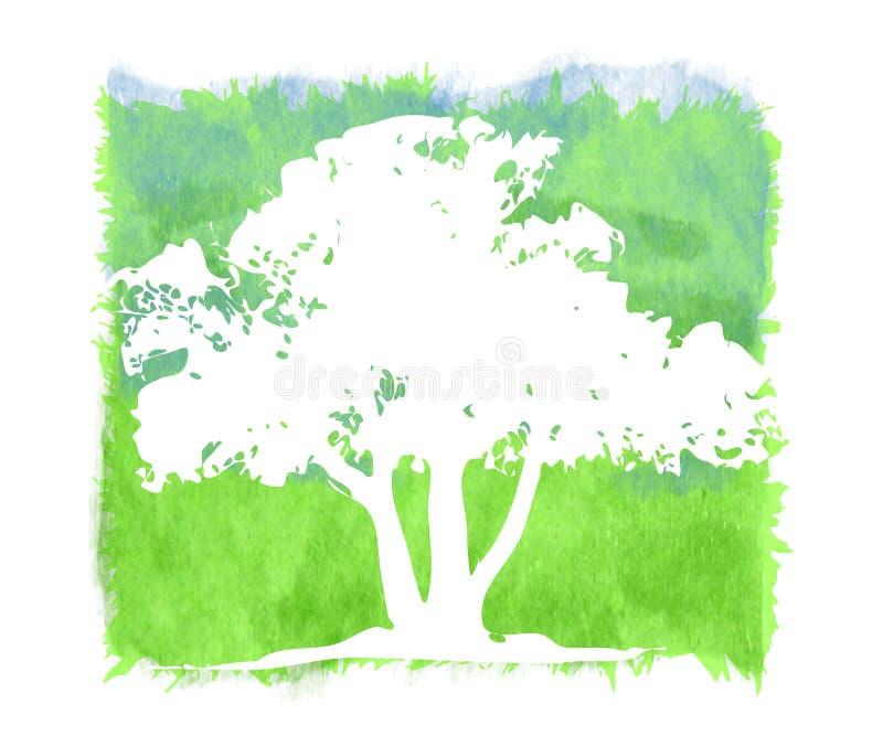 bakgrundsgrunge texturerade treen royaltyfri illustrationer