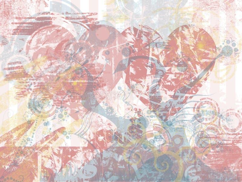 bakgrundsgrungeförälskelse royaltyfri illustrationer