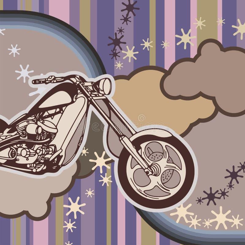bakgrundsgrungemotorcykel stock illustrationer