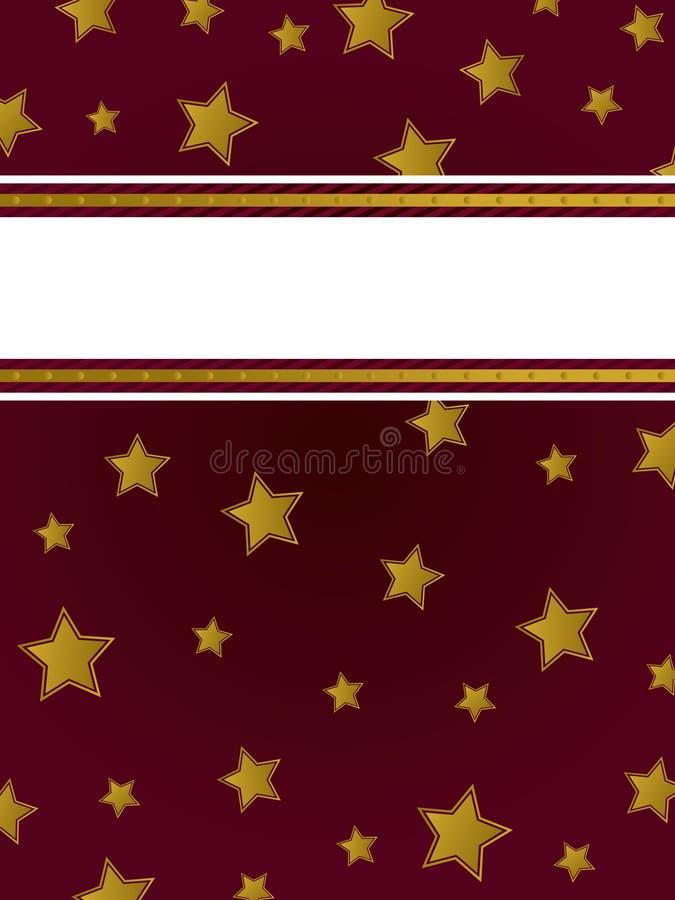 bakgrundsguldstjärna royaltyfri illustrationer