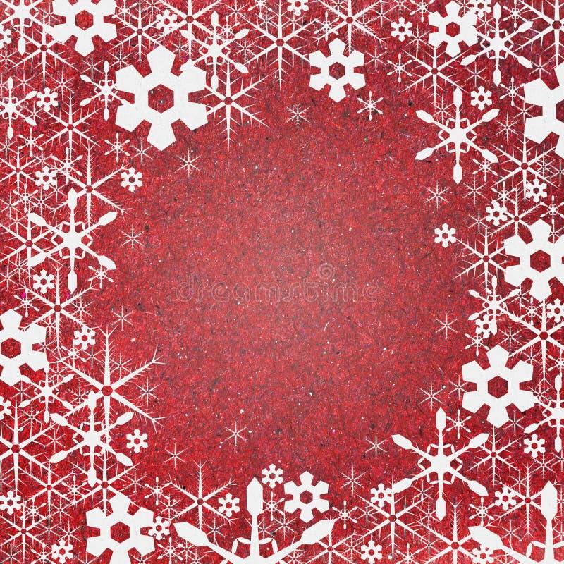 bakgrundshantverkpapper återanvänder snow vektor illustrationer