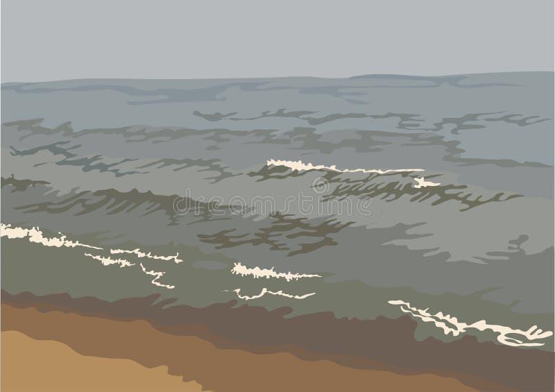 bakgrundshav vektor illustrationer
