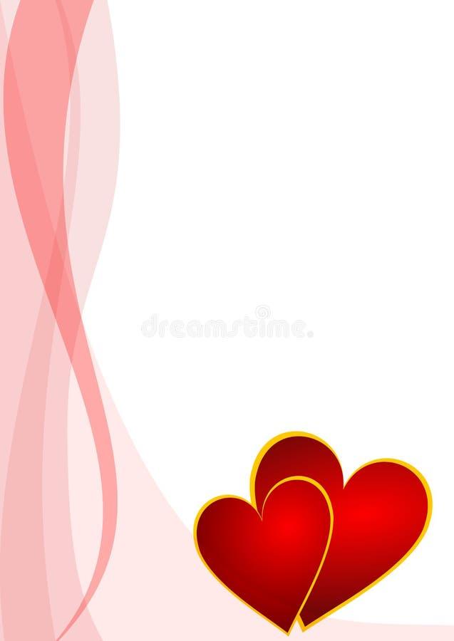 bakgrundshjärtavalentiner stock illustrationer