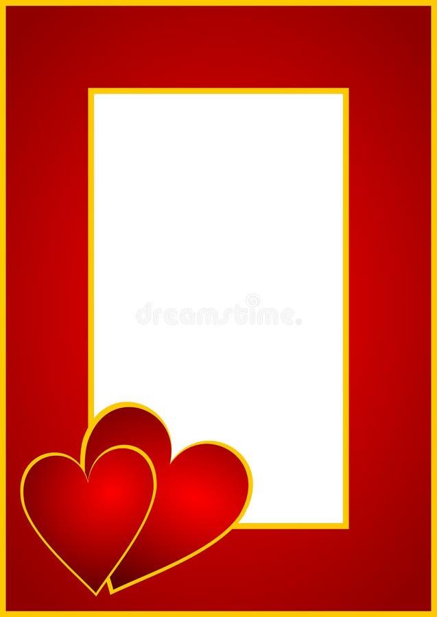 bakgrundshjärtavalentiner royaltyfri illustrationer