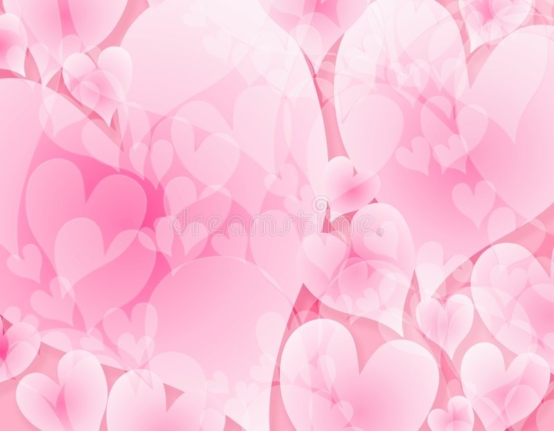 bakgrundshjärtor tänder täckande pink stock illustrationer