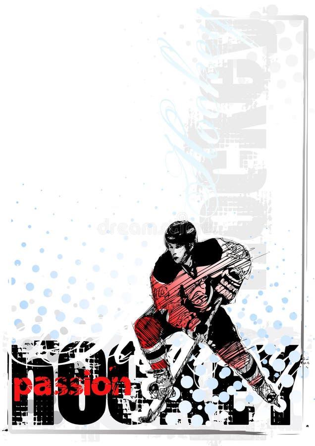 bakgrundshockeyis stock illustrationer