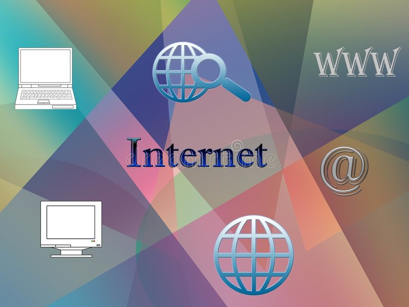 bakgrundsinternet royaltyfri illustrationer
