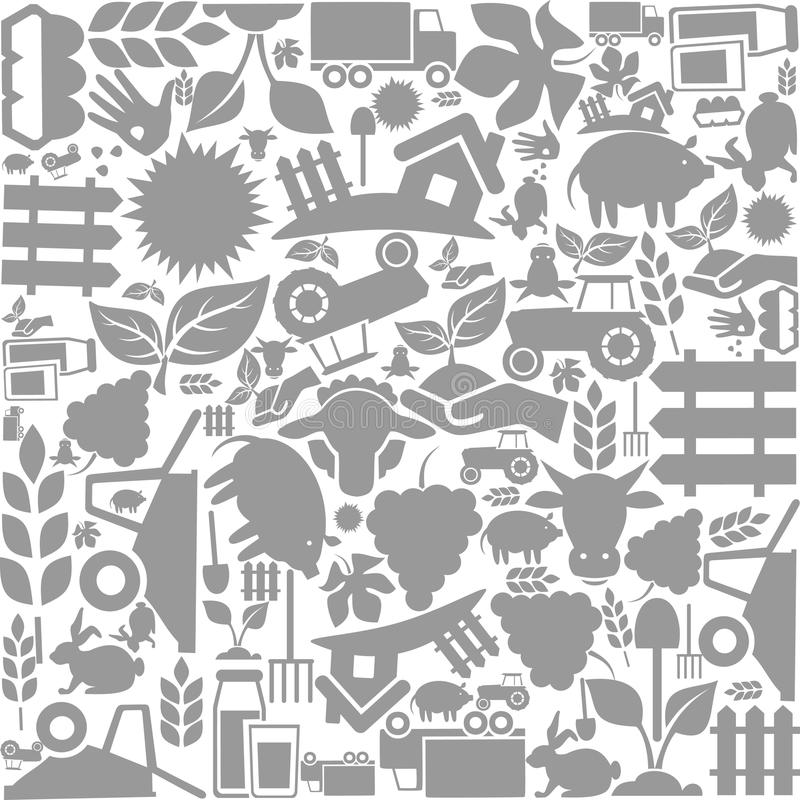 Bakgrundsjordbruk royaltyfri illustrationer