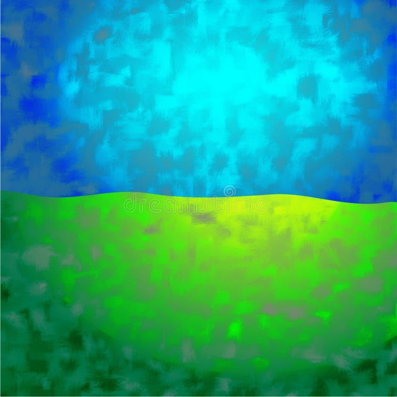 bakgrundsjordsky royaltyfri illustrationer