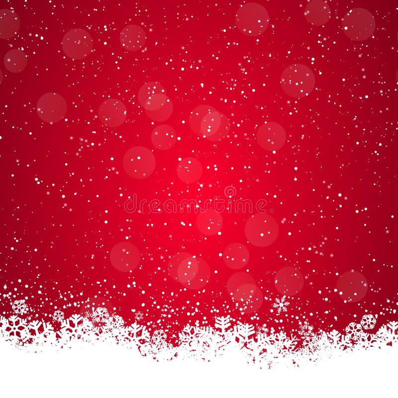 bakgrundsjulen isolerade vita snowflakes stock illustrationer
