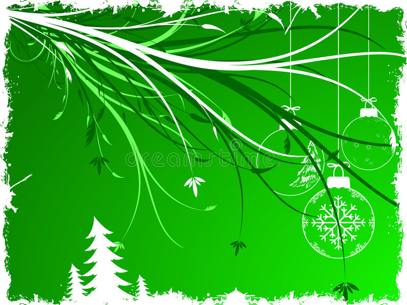 bakgrundsjultoys stock illustrationer