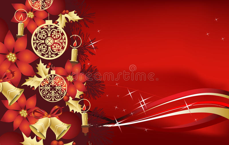 bakgrundsjultree royaltyfri illustrationer