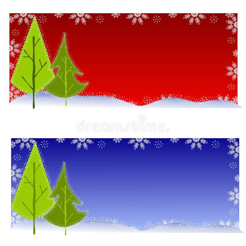 bakgrundsjultree vektor illustrationer