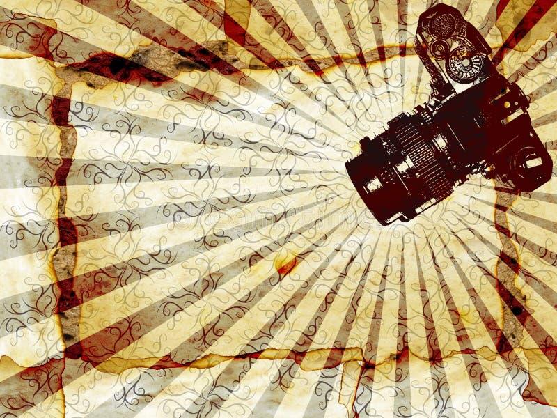 bakgrundskameraclassic stock illustrationer