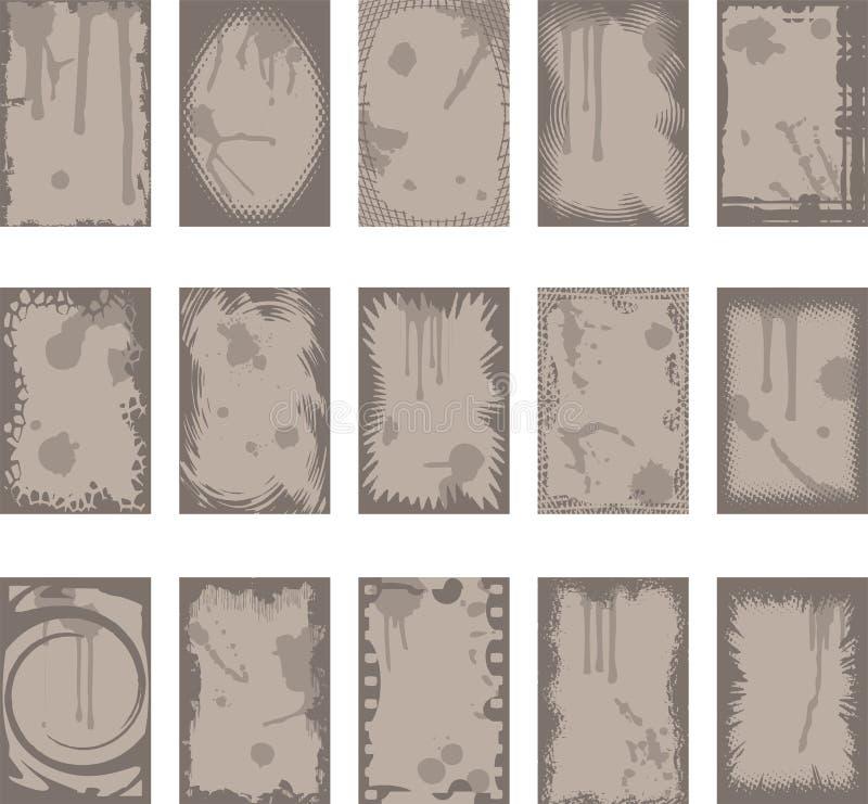 bakgrundskantgrunge royaltyfri illustrationer