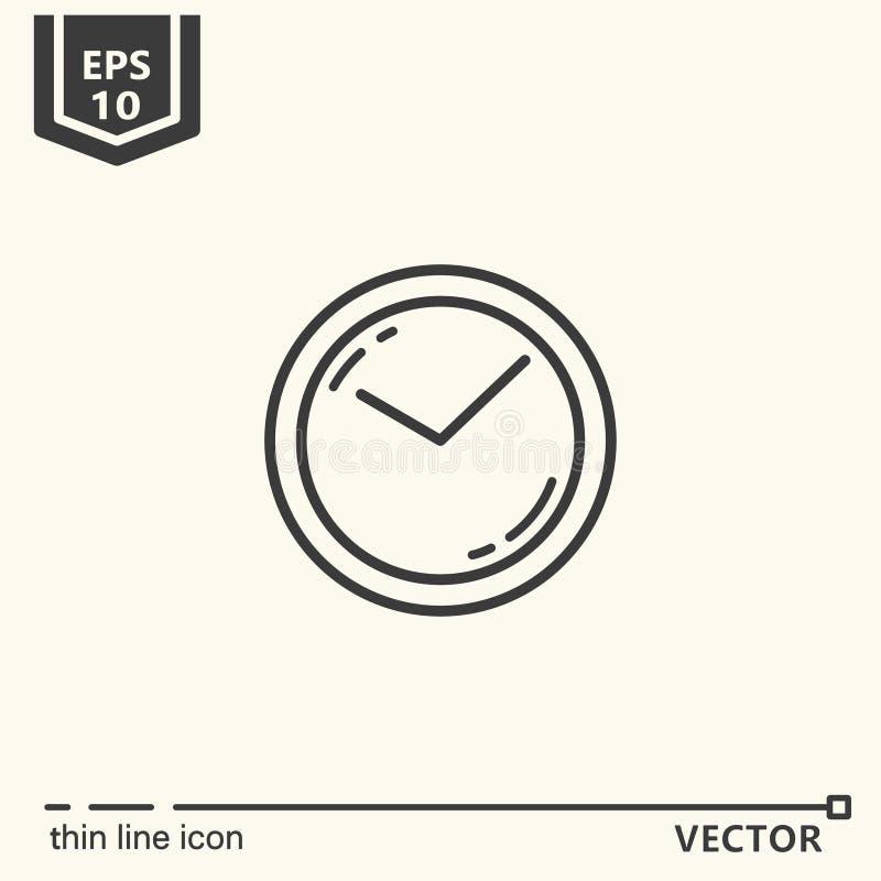 bakgrundsklocka som isoleras över väggwhite En symbol - kontorstillförsel, serie stock illustrationer