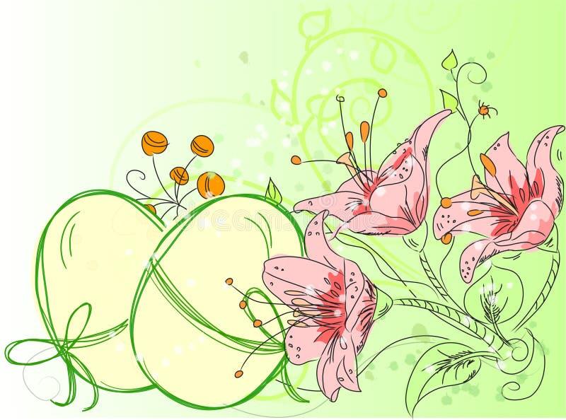 bakgrundskorteaster vektor royaltyfri illustrationer