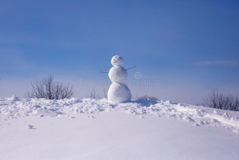 bakgrundskortjulen man nytt s-snowår arkivbild