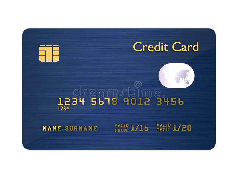 bakgrundskortkreditering som isoleras över white royaltyfri illustrationer