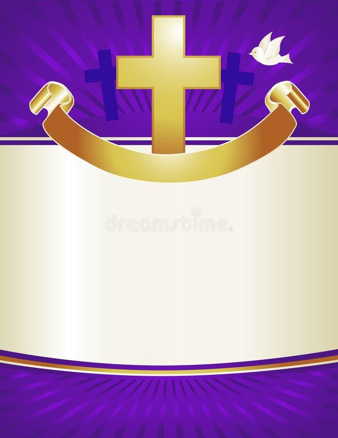 bakgrundskristenkors royaltyfri illustrationer