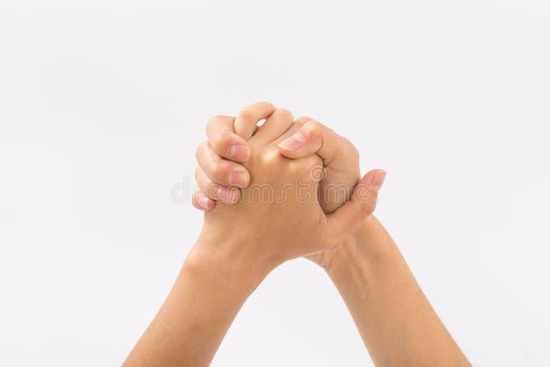 bakgrundskvinnlign hands white gester royaltyfri bild
