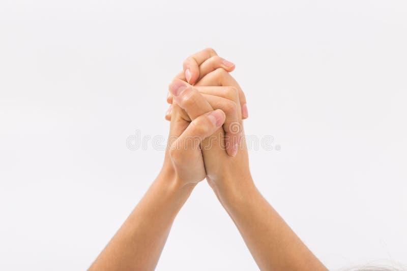 bakgrundskvinnlign hands white gester arkivfoto
