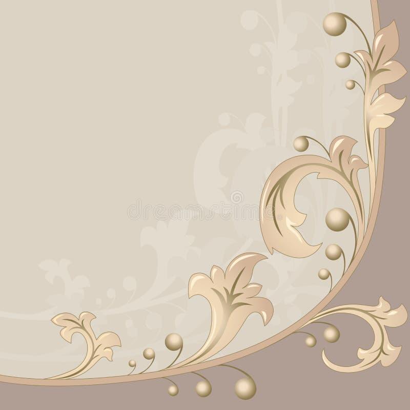 bakgrundsleaves royaltyfri illustrationer