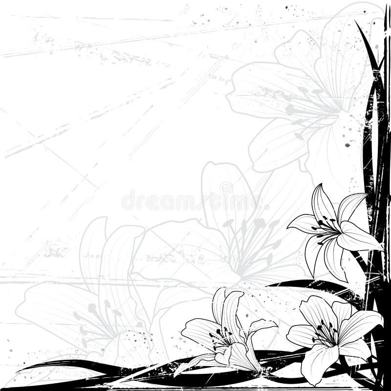 bakgrundslilja vektor illustrationer