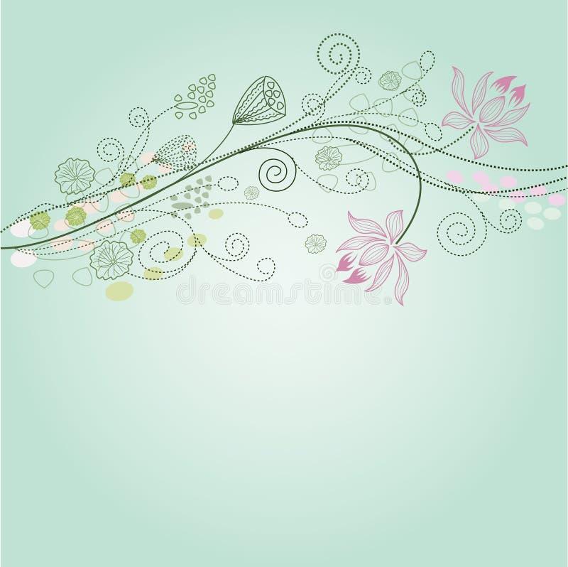 bakgrundslotusblomma stock illustrationer