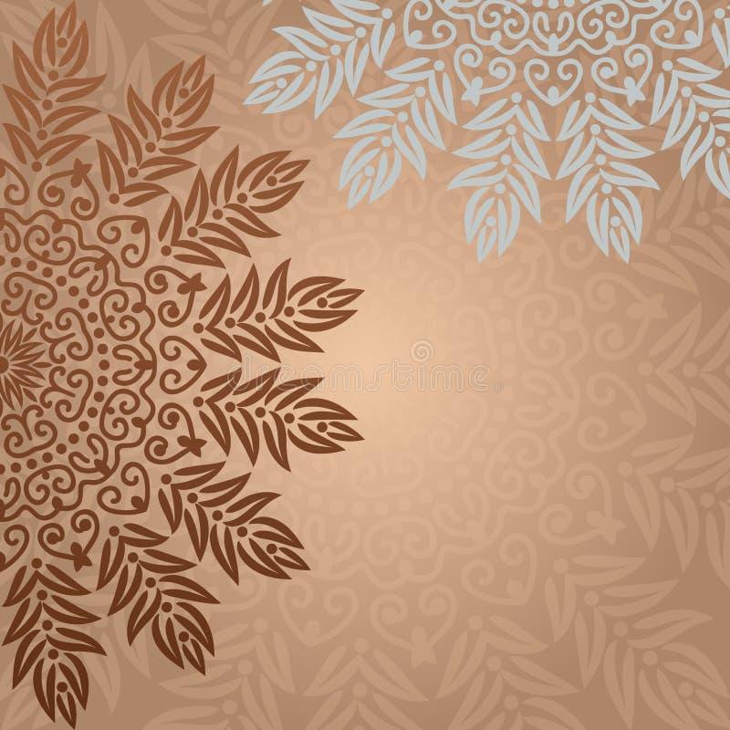 Bakgrundsmandala royaltyfri illustrationer