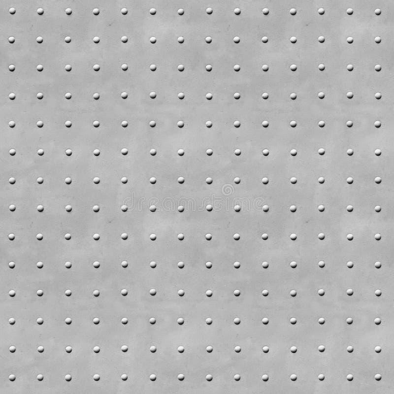 Bakgrundsmetalltextur med nitar arkivfoto