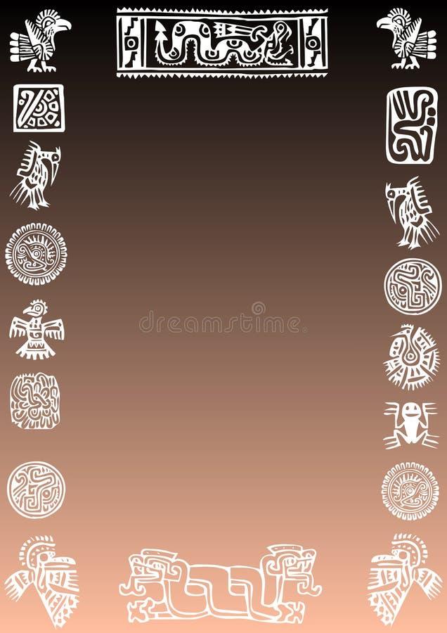 bakgrundsmexikan royaltyfri illustrationer