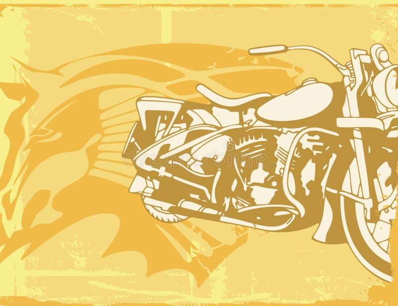 bakgrundsmotorcykel vektor illustrationer