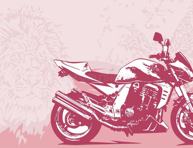 bakgrundsmotorcykel royaltyfri illustrationer