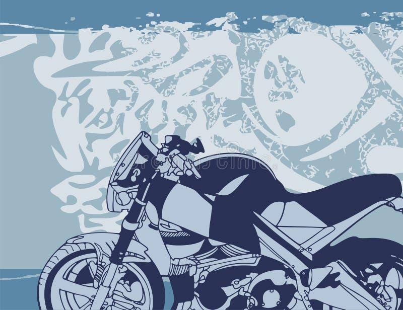 bakgrundsmotorcykel stock illustrationer