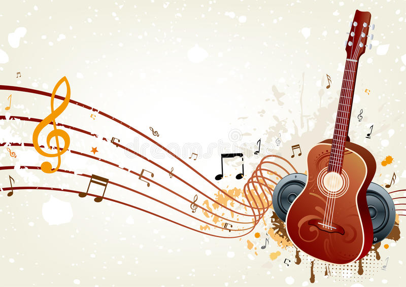 bakgrundsmusik royaltyfri illustrationer