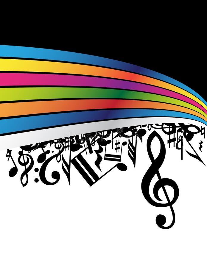 bakgrundsmusik stock illustrationer