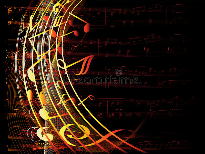 bakgrundsmusikal royaltyfri illustrationer