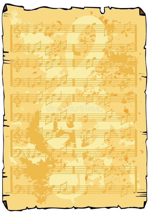 bakgrundsmusikark stock illustrationer