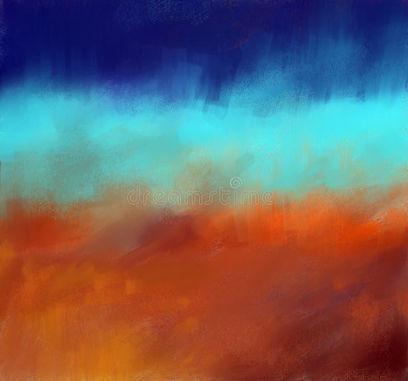 bakgrundsoljemålning stock illustrationer