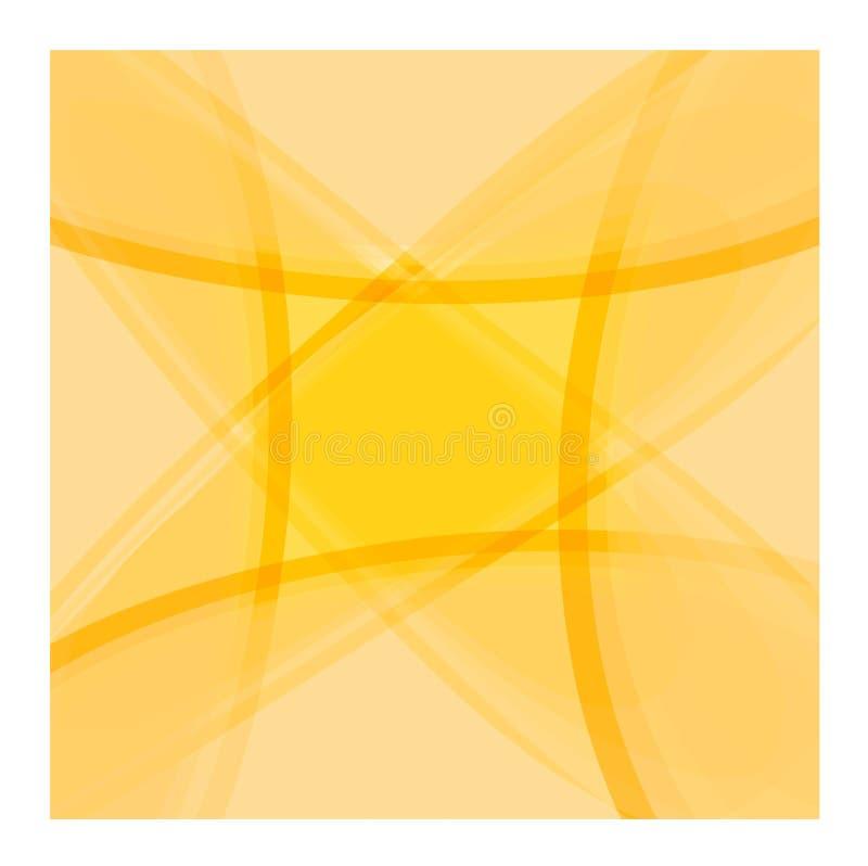 bakgrundsorangefyrkant vektor illustrationer