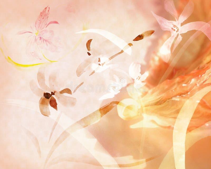 bakgrundsorchids stock illustrationer