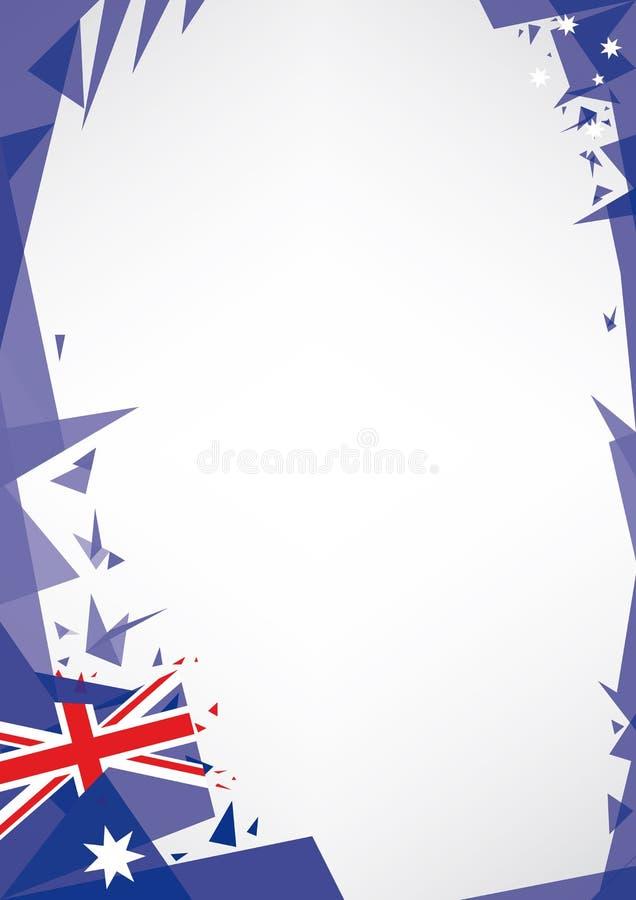 Bakgrundsorigami av Australien vektor illustrationer